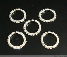New Lots 120Pcs 1Row Stretchy Clear Crystal Rhinestone Toe Rings