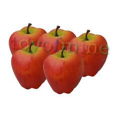 5pcs Red Delicious légumes fruits qualité mobilier haut de gamme faux artificiel