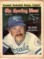 The Sporting News, Baseball magazine 8/7/1976, Dennis Leonard,Kansas City Royals