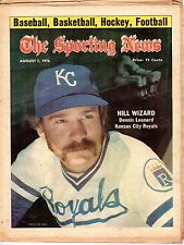 The Sporting News, Baseball magazine 8/7/1976, Dennis Leonard,Kansas City Royals