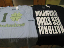 2 Old Navy T Shirt Lot 4 Leaf LUCKY CLOVER Black Beer Keg Size Large L