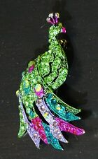 Beautiful Rhinestone Peacock Bird Fashion Brooch Pin Brand New FREE P&P