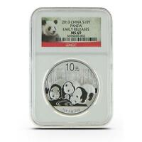 New 2013 Chinese Silver Panda 1oz Early Releases NGC MS69 Graded Slab Coin