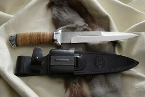 Russian Survival Outdoor Hunting Knife - Rys Birch Bark - A&R Zlatoust