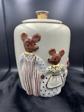 The Three Bears Vintage Cookie Jar with gold details by Regal China 1940's 704
