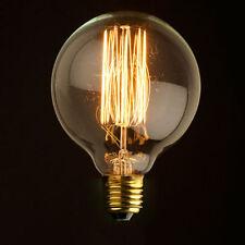 Vintage Vetro E27 Globe Edison Licht Clear Birnen Lampe Glühlampen 40W 220V YH