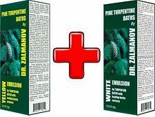 TURPENTINE BATH|ANTI-CELLULITE| SKIPIDAR|WHITE&YELLOW EMULSION 2x250ml| UK STOCK