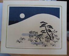 """obraz drzeworyt japoński """"KSIĘŻYCOWA NOC W ŚNIEGU"""""""