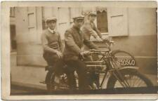 Motorcycle, Bicycle, Two Men Travelling on an Old Type Motorcycle, Old Photo Pc.