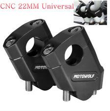 "38mm 2x CNC 7/8"" Handlebar Riser Mount Clamp Height UP Motorcycle Dirt Bike"