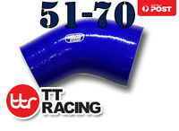 "Silicone 45 Degree Reducer Elbow Turbo Hose 51mm - 70mm 2""- 2.75"" Blue"