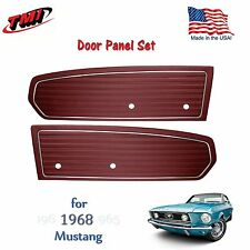 Dark Red Door Panels For 1968 Mustang Pair by TMI-Made in the USA  In Stock!!