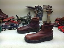 ORIGINAL BATES FLOATERS ZIP UP DISTRESSED BROWN LEATHER BOSS BOOTS 9D