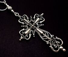 """A LARGE MADONNA STYLE  CROSS SNAKE CHAIN NECKLACE. GOTH. 18"""" LONG. NEW."""