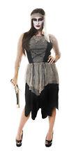 Fancy Dress Zombie Pirate Undead Lady Woman Halloween Costume Size 10-14