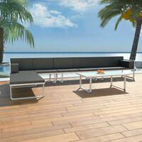 vidaXL 17 Piece Garden Sofa Set Textilene Aluminum Outdoor Patio Seat Chairs