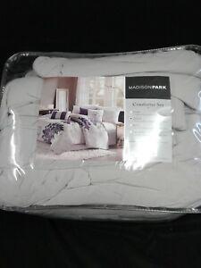 Madison Park Bridgette Floral pattern Cotton 7 pc Comforter Set Queen