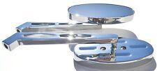 "Yamaha XV1700 XV 1700 Warrior Chrome Metal Oval Mirrors STEM: 6.25"" (16cm)"