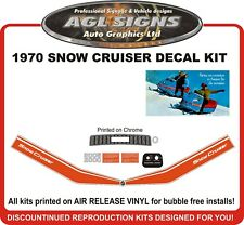 1970 SNOW CRUISER  Reproduction Decal Kit  2000 & 2005 Models graphics stickers
