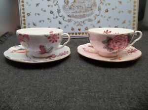 Wedgwood Cuckoo Tea Story 4 Pc set Cup and Saucer