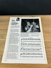 1989 Vintage 1Pg Print Article Guitar Clinic Ex Warlock Tommy Bolan Works Out