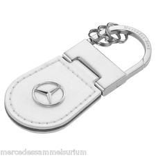 """Portachiavi Originale Mercedes Benz """"Shanghai"""" Pelle bianco nuovo"""
