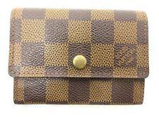 Auth Louis Vuitton Damier Porte Monnaie Plat N61930 Coin Purse Wallet 96504
