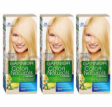3pcs Garnier Color Naturals E0 Super Blonde Bleaching Color hair