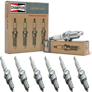 6 Champion Copper Spark Plugs Set for JENSEN 541R 1958-1960 L6-4.0L