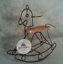 Decorative Metal & Wood Rocking Horse 1998 House Styles By Hermitage Pottery