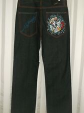 NEW AUTHENTIC MEN/'S ED HARDY DENIM JEANS 46117LD34 JERRY SPIDERSKULL PNT 36-44