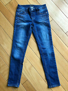 Justice simply low jeggings with silver/gold jewels (sz 12)