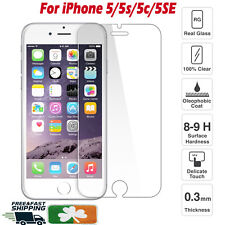 Premium Quality Tempered Glass Screen Protector Film For Apple iPhone 5/5s/5c
