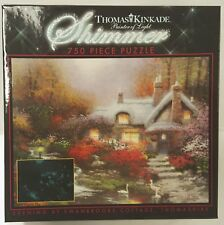750PC THOMAS KINKADE SWANBROOK COTTAGE SHIMMER JIG SAW PUZZLE 750 PIECE USA MADE