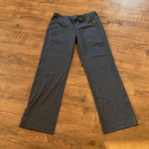 Women's Danskin Now Semi-Fitted Yoga Pants Size L Large Petite Athletic Gray