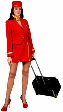 SmallAdults Ladies Red Air Hostess Flight Attendant Uniform Fancy Dress Costume