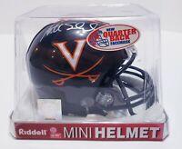 VIRGINIA CAVALIERS  QB MATT SCHAUB signed autographed Riddell mini helmet