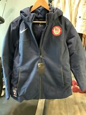 Olympic Team USA NIKE Jacket Size Large L Navy Training Women NWT Coat New Warm