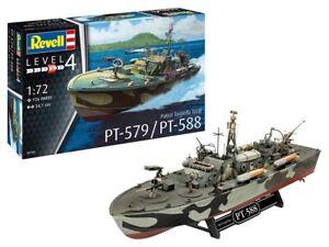 Revell 05165-1/72 Patrol Torpedo Boat PT-588/PT-57 - Nuevo