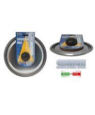 COPERCHIO IN ACCIAIO INOX CON POMOLO PLASTICA CM 10 A 36 X PENTOLE PADELLE GNALI