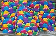 Rainbow Prince Frogs Twin Bed Sheet Set Flat Fitted 1 Pillowcase 100% Cotton