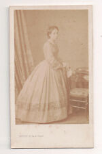 Vintage CDV French Aristocratic Lady High Society  Levitsky Photo Paris France