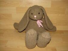 Boyd's Bears Collection 17� Plush Gray Brown Bunny 1991 Boyd Rabbit Pink Bow