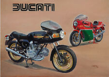 Ducati 900SS Mike Hailwood Replica Motorbike Blank Birthday Fathers Day Card