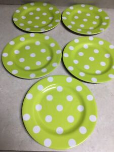 Dinner Plate  with Trendy Brown Polka Dots No Melamine Microwave Safe Free Shipping Buy More Save More
