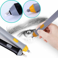 Electric Pencil Eraser Kit Adjustable Battery Operated Sketch Drawing 22 Refills