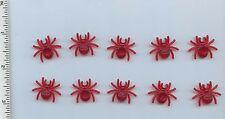 LEGO x 10 Trans-Red Spider NEW creepy creature EEEEK Halloween