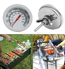 Stainless Steel Camping BBQ Grill Barbecue Smoker Pit Cooking Thermometer UK