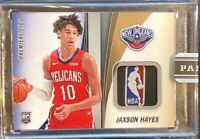 2019-20 Panini Premier Lids Jaxson Hayes Rookie **LOGO MAN Patch 1/1** only1made