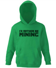 Rather be Mining Childrens Hoodie